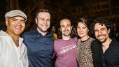 Hamilton - backstage - 9/15 - Christopher Jackson, Taran Killam, Lin-Manuel Miranda. Colbie Smulders andAlex Lacamoire