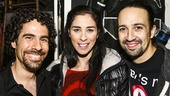 Hamilton - backstage - 10/15 - Alex Lacamoire, Sarah Silverman and Lin-Manuel Miranda