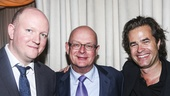 King Charles III - Opening - 11/15 - Mike Bartlett (Playwright), producer Stuart Thompson and director Rupert Goold