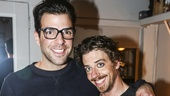 Something Rotten! - Backstage - 11/15 - Zachary Quinto & Christian Borle