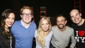 Something Rotten! - Backstage - 11/15 - Beth Johnson Nicely-Clay Aiken- Jenny Hill -David Hibbard -Aaron Kaburick
