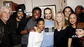 Hamilton - backstage - wide - 11/15 - James Brolin, Daveed Diggs, Okieriete Onaodowan, Renee Elise Goldsberry, Lin-Manuel Miranda, Barbra Streisand, Anthony Ramos, Jasmine Cephas Jones, Daniel J Watts and Phillipa Soo