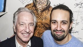 Hamilton - backstage - wide - 11/15 - Alan Rickman and Lin-Manuel Miranda