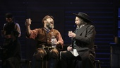 Danny Burstein as Tevye and Adam Dannheisser as Lazar Wolf in Fiddler on the Roof.