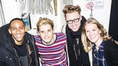 Spring Awakening - Backstage - 1/16 - Griffin Matthews and Matt Gould with Andy Mientus and Katie Boeck