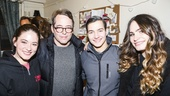 Spring Awakening - Backstage - 1/16 - Sandra Mae Frank, Matthew Broderick, Miles Barbee and Kathryn Gallagher