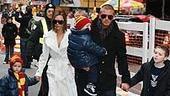 Beckham Family at Little Mermaid - David Beckham - Victoria Beckham - two kids