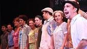 Broadway In the Heights Opening - Lin-Manuel Miranda - cast (c.c.)