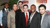 Broadway In the Heights Opening - Rogelio Douglas Jr. - Eliseo Roman - Javier Munoz - Tony Chiroldes - Rickey Tripp - Shaun Taylor-Corbett
