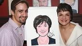 Priscilla Lopez Caricature at Sardi's - Priscilla Lopez - Lin-Manuel Miranda (smiles)
