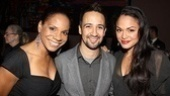 This is one talented theater trio: the much-awarded Audra McDonald, Lin-Manuel Miranda and Karen Olivo are on hand to present Audience Choice Awards to their fellow thespians.