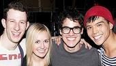 Darren Criss & Justin Kirk Backstage at Godspell – Nick Blaemire –Julia Mattison - Darren Criss – Telly Leung