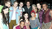 Eric McCormack Joins Godspell Onstage – Eric McCormack  with full Godspell cast