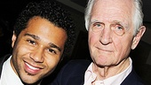 Producer Edgar Lansbury congratulates Corbin Bleu on a job well done!
