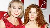Honoree Bernadette Peters looks smashing as she poses side by side with another lovely lady in red, End of the Rainbow Tony nominee Tracie Bennett. Congratulations, Bernadette!