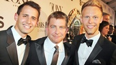 Tony Red Carpet- Benj Pasek –Peter Billingsley- Justin Paul