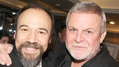 A mini Follies reunion! Danny Burstein and Ron Raines  gets some quality time together at the party.