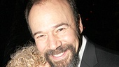 Danny Burstein gets a big congratulatory night hug from MTC's Debra Waxman-Pilla.