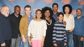 A Raisin in the Sun stars Stephen McKinley Henderson, Sean Patrick Thomas, David Cromer, Anika Noni Rose, LaTanya Richardson Jackson, Denzel Washington, Bryce Clyde Jenkins, Sophie Okonedo and Jason Dirden assemble for a cast photo.