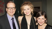 MTC executive producer Barry Grove and artistic producer Mandy Greenfield flank Tales From Red Vienna star Nina Arianda.