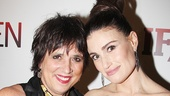 Eve Ensler cheers on the If/Then leading lady—Menzel previously appeared in her play The Vagina Monologues.