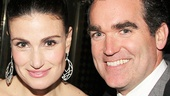 The Wild Party alums Idina Menzel and Brian d'Arcy James catch up after the show.