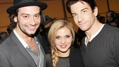 Rock of Ages and American Idol alum Constantine Maroulis chills with Tony nominee Orfeh and her husband, Rocky headliner Andy Karl.