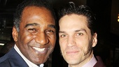 Javerts unite! Former Les Miz star Norm Lewis and current Les Miz star Will Swenson take a snapshot.