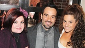 After the show, Faith Prince and Marissa Jaret Winokur run into Les Miz star Ramin Karimloo...