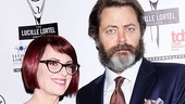 Lucille Lortel Awards  - OP - 5/14 - Megan Mullally - Nick Offerman