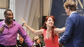 Phantom stars Norm Lewis, Sierra Boggess and Jeremy Hays get silly during their performance.