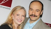 Susan Stroman strikes a pose with Cabaret's Danny Burstein.