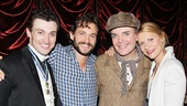 Hugh Dancy (second from l.) and Claire Danes (r.) with  A Gentleman's Guide to Love & Murder stars Bryce Pinkham and Jefferson Mays.