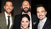 A starry quartet! Winners Zachary Levi, Chris O'Dowd, Ramin Karimloo and Sarah Greene.