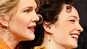 Kathryn Meisle as Ursula, Lily Rabe as Beatrice, & Ismenia Mendes as Hero in Much Ado About Nothing
