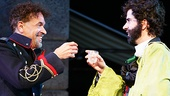 Brian Stokes Mitchell as Don Pedro & Hamish Linklater as Benedick in Much Ado About Nothing