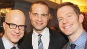Producers Richie Jackson and Jordan Roth with Tony nominee Rory O'Malley.