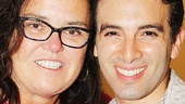 Beautiful's Jarrod Spector takes a sweet snapshot with The View co-host and Broadway alum Rosie O'Donnell.