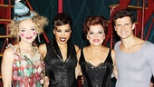 Pippin players Rachel Bay Jones (Catherine), Ciara Renee, Priscilla Lopez and Kyle Dean Massey.