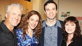 Pat Benatar and her husband Neil Giraldo flank Beautiful stars Jessie Mueller and Jake Epstein.