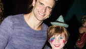 Kyle Dean Massey and Lucas Schultz (Theo) bond backstage.