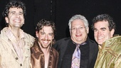 Something Rotten - backstage - 4/15 - John Cariani - Christian Borle - Harvey Fierstein - Brian D'Arcy James