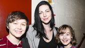 Fun Home - backstage - 7/15 - Emily Skeggs, Laura Prepon and Sydney Lucas