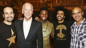 Hamilton - Backstage - Joe Biden - 7/15 - Lin-Manuel Miranda, Joe Biden, Okieriete Onaodowan, Daveed Diggs and Christopher Jackson