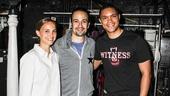 Hamilton - backstage - 8/15 - Lin-Manuel Miranda  - Natalie Portman - Trevor Noah