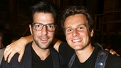 Hamilton - backstage - 8/15 - Zachary Quinto and Jonathan Groff