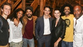 Hamilton - backstage - 8/15 - Jonathan Groff, Renee Elise Goldsberry, Lenny Kravitz, Keith Lieberthal, Juliana Marguiles, Daveed Diggs and Lee Daniels