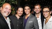 Mamma Mia! - Closing - 9/15 - Casey Nicholaw, Mike Cannon, Adam Jacobs, Josh Marquette and Michael Mindlin
