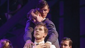 Austin McKenzie as Melchior and the cast of Spring Awakening