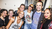 Hamilton - backstage - 9/15 - Alex Lacamoire, Jonathan Groff,  Seth Stewart, Lin-Manuel Miranda and Jasmine Cephas Jones - Alicia Keys - mom Terria Joseph